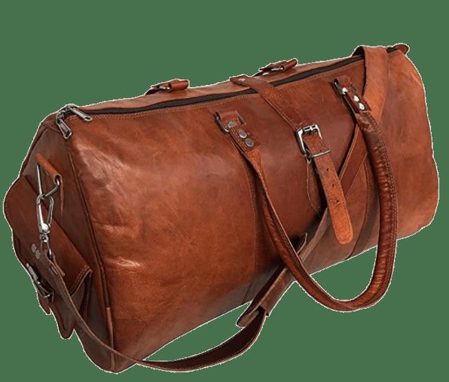 cuero Leather Travel Duffle Bag