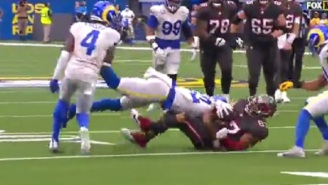 Bucs' Rob Gronkowski Leaves Game With Injury After Taking Big Hit Vs Rams