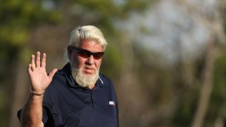 John Daly Throws Out The First Pitch At The Cardinals Game As Only John Daly Can