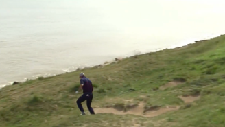 Jordan Spieth Nearly Falls Into Lake Michigan After Unbelievable Shot At The Ryder Cup