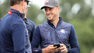Justin Thomas Is Wearing Some Incredible USA-Themed Custom Golf Shoes At The Ryder Cup