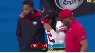 Niners CB Jason Verrett Gets Extremely Emotional After Limping Off Field With Leg Injury During First Game Of The Season
