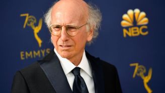 Was Larry David Being Held Hostage At New York Fashion Week And The U.S. Open?