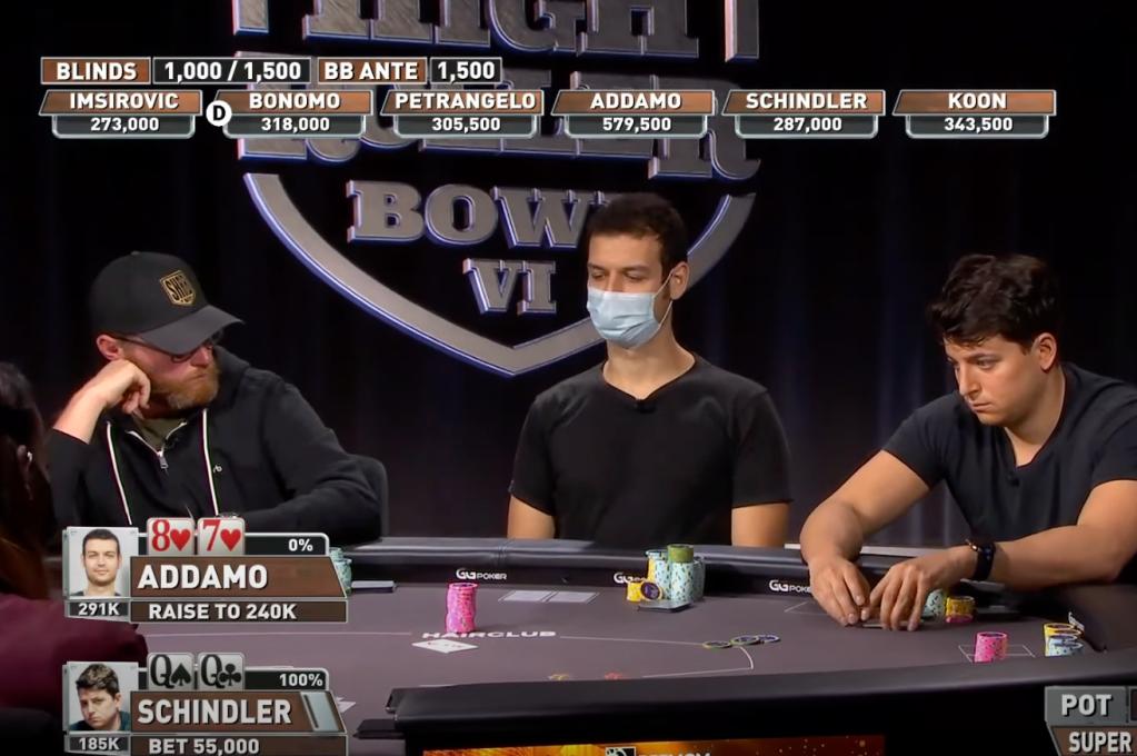 Michael Addamo bluff PokerGo Super High Roller $300K buy-in
