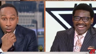 ESPN's Stephen A. Smith Looked Absolutely Horrified When Jerry Jones Made A Comment About How He's Always Surrounded By Pretty Women