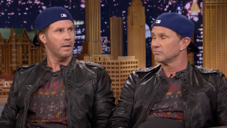 Will Ferrell And His Identical Twin Red Hot Chili Peppers Drummer Chad Smith Have A Drum-Off