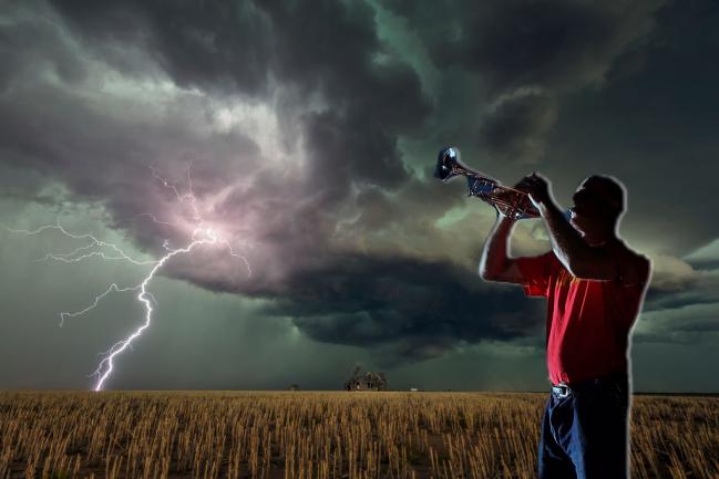 Tornado Oklahoma Siren Man Trumpet Ray Payne