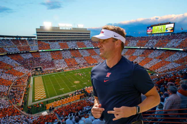 Lane Kiffin Rocky Top Ole Miss Neyland Stadium Sell Out Checker