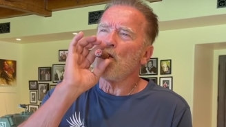 Arnold Schwarzenegger Shares The Tequila Cigar Hack He Learned While Filming 'Total Recall' In Mexico