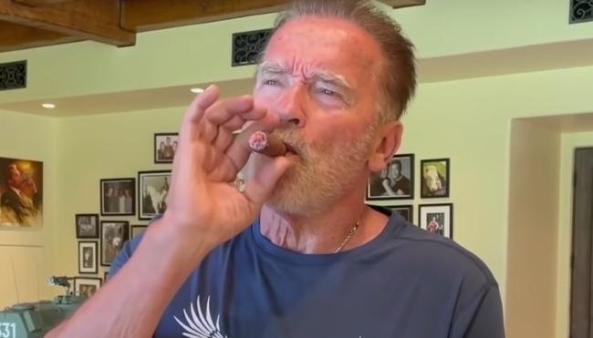 Arnold Schwarzenegger cigar hack tequila rub
