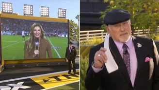 Terry Bradshaw Trends Because People Were Mad At Him For Complimenting Erin Andrews' Outfit During Interview