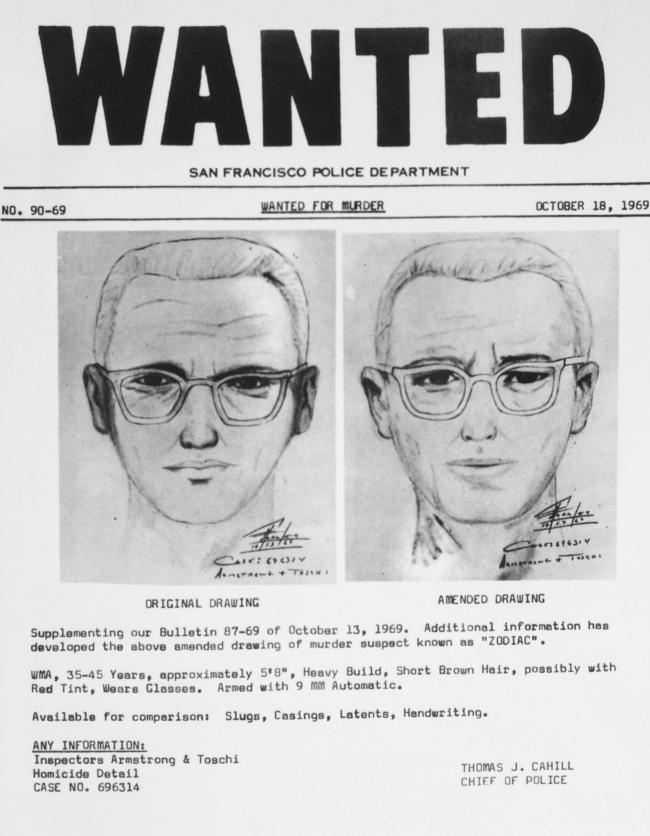 FBI San Francisco PD Dispute Claims Zodiac Killer Has Been Identified