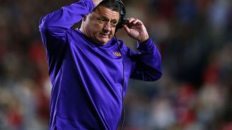 Ed Orgeron Would Reportedly Bring His Girlfriends To LSU Practices And Their Children Would 'Interfere' By Participating In Team Drills