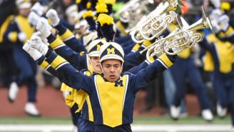 WATCH: Michigan Marching Band Trolls Ohio State With Epic Beer Pong Halftime Show