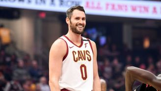Kevin Love Has Hysterical Reaction To Ricky Rubio And Facundo Campazzo Butting Heads