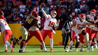 WATCH: Aerial Video Of Patrick Mahomes Making RIDICULOUS Cross-Body Throw Goes Viral