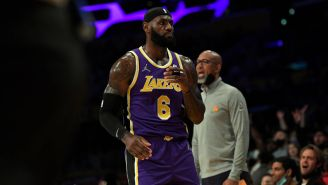 Courtside Video Shows An Angry LeBron James Yelling At Suns' Cam Payne For Talking Trash To Him While Lakers Were Getting Blown Out