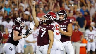 Texas A&M Kicker Seth Small's Family Watching Him Beat Alabama Will Give You Chills