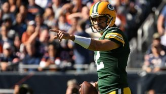 Aaron Rodgers Caught On Hot Mic Giving Savage Message To Bears Fans After Scoring Touchdown