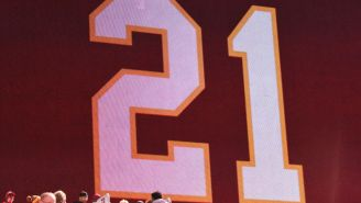 Jackson Mahomes Issues Apology For 'Accidentally' Dancing All Over Sean Taylor Memorial Logo