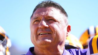 Ed Orgeron's Body Language As LSU Lost To Ole Miss Truly Could Not Have Been Funnier