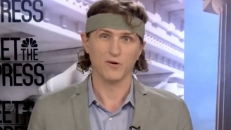 People React After Reporter Wears A Suit With Matching Headband On 'Meet The Press'