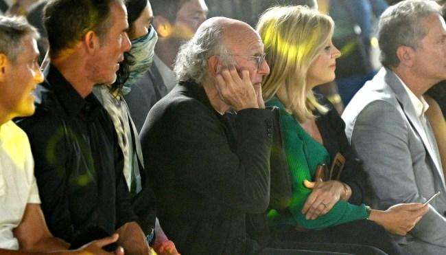 Larry David explains fashion show photo