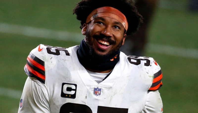 Myles Garrett Is Using Some Unreal Halloween Decorations To Troll Opposing QBs