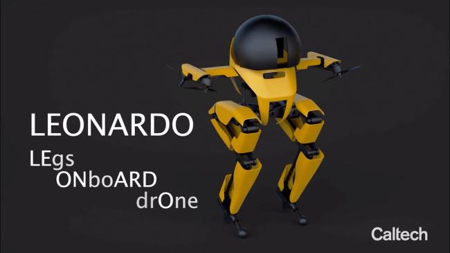 New Flying Robot LEO Can Ride A Skateboard Balance On A Slackline