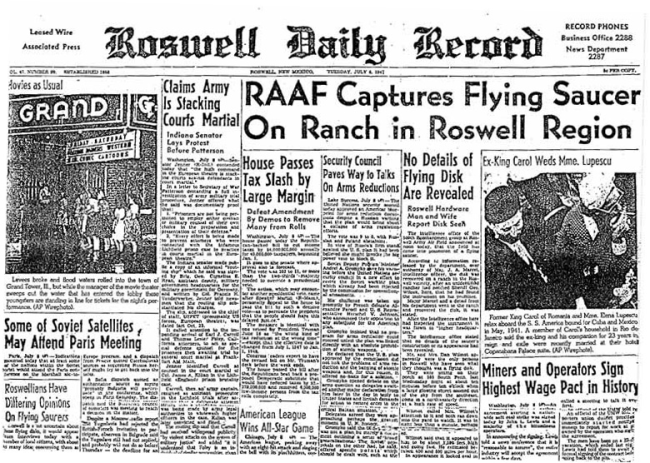 Newly Resurfaced Letter Written By Roswell Witness Details Craft And Humanoids At The Site