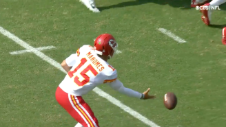Patrick Mahomes Is So Good That He's Straight Up Bowling For Touchdowns