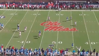 WATCH: Lane Kiffin Called TD Before The Ball Was Thrown And Launched His Play Sheet TO THE MOON