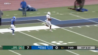 WATCH: Ohio Football Scoring The Longest QB Touchdown Run In History Is Absolutely Mind-Blowing