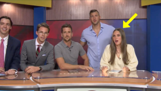 Tim Tebow Crashed The Ole Miss Student TV Station And Jordan Rodgers Went Full Ron Burgundy