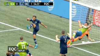 The Rock Could Not Believe This Vicious 'Rock Bottom' That A Soccer Goalie Put On His Opponent