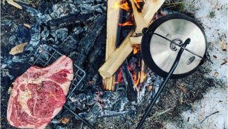 Learn To Cook Over An Open Flame Like A Master With This Swing Arm Grill