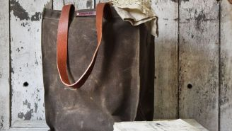 Why We're Digging This Rugged Waxed Canvas Market Tote Bag