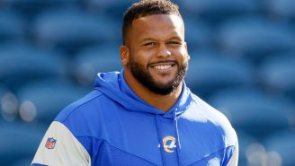 Aaron Donald Reveals His Pregame Message To Jared Goff Before Their Matchup On Sunday