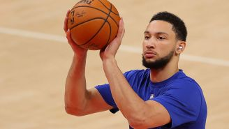 Ben Simmons Didn't Actually Practice With His Phone In His Pocket, According To Shams Charania