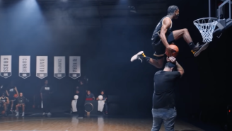 8 Of The Best Slam Dunkers Lower The Rim To 9-Feet And Make Magic Happen