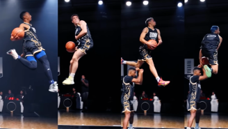 4 Of The Best Dunkers Give Everything They've Got In A 'Longest Slam Dunk' Contest