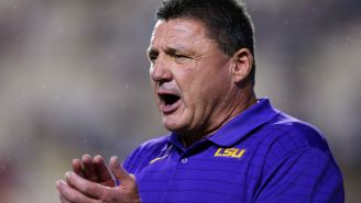 Ed Orgeron Reacts To Radio Caller Who Mocked Him Live On Air For Infamous Bedroom Photo Leak
