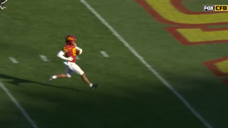 Iowa State WR Getting TD Called Back For Taunting When He High-Stepped Into End Zone Might Be The Worst Call In Football History