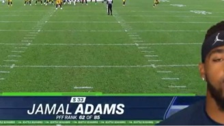 Jamal Adams Calls Himself 'The Best In The Nation' During Intro While Graphic Shows He's 62nd Ranked NFL Safety