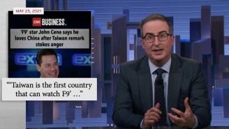 John Oliver Takes Shots At John Cena's Extremely Weird Apology To China