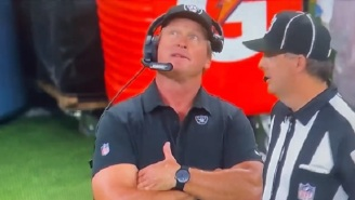 Raiders HC Jon Gruden Looked Confused When Told About Weather Delay At Chargers' New Dome Stadium On MNF