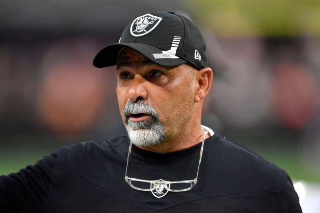 raiders interim head coach cries during press conference