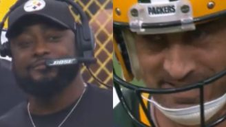 NFL Fans Are Convinced Aaron Rodgers Wants To Play In Pittsburgh After Rodgers Exchanges Smiles With Mike Tomlin During Steelers-Packers Game
